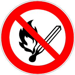 Download free red round pictogram prohibited flame icon