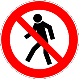 Download free red round pictogram pedestrian prohibited icon