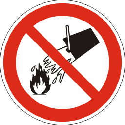 Download free red round pictogram prohibited flame water icon