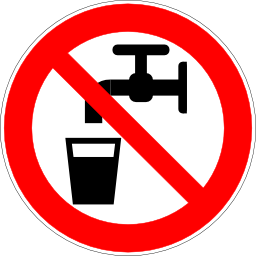 Download free red round pictogram prohibited drink water liquid icon