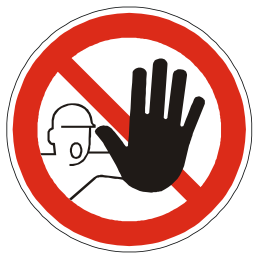 Download free red round pictogram prohibited stop icon