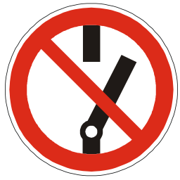 Download free red round pictogram electric prohibited start icon