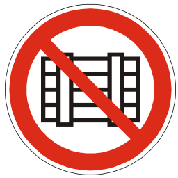 Download free red round pictogram prohibited storage icon