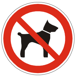 Download free red round pictogram animal dog prohibited icon