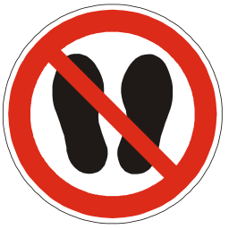 Download free red round pictogram foot prohibited human walk shoe icon