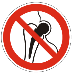 Download free red round pictogram prohibited implant metal icon