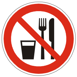 Download free red round pictogram prohibited food eat icon