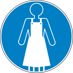 Download free blue round pictogram clothing obligation icon