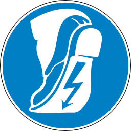 Download free blue round pictogram foot electric obligation shoe icon