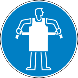 Download free blue round pictogram protection belt human clothing obligation icon