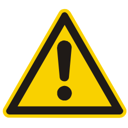 Download free exclamation dot alert triangle information attention icon
