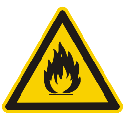 Download free alert triangle information flame icon