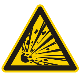 Download free alert triangle information attention explosion icon
