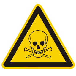 Download free bone alert triangle information skull attention dead icon