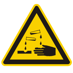 Download free hand alert triangle information attention acid icon