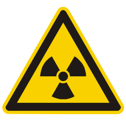 Download free alert triangle information wave attention nuclear radioactivity icon