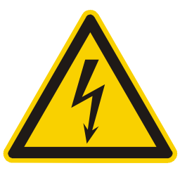 Download free electric thunderbolt alert triangle information attention icon