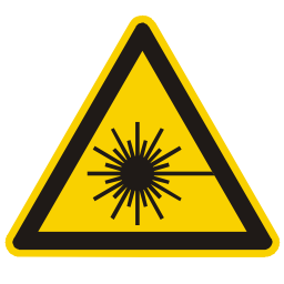 Download free alert triangle information attention laser icon
