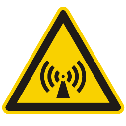 Download free alert triangle information wave attention magnetic icon