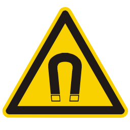 Download free alert triangle information attention magnetic magnet icon