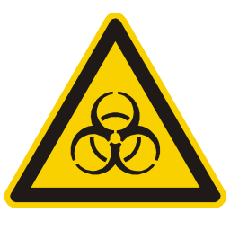 Download free alert triangle information attention biology icon