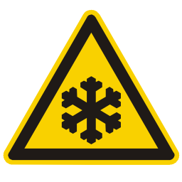 Download free snow alert triangle information frozen attention temperature icon