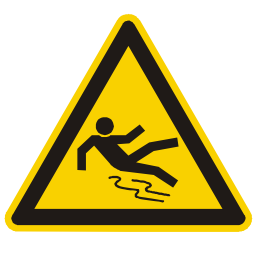 Download free fall alert triangle information human attention icon