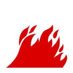 Download free pictogram flame attention icon
