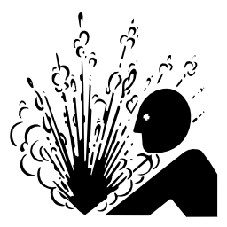 Download free pictogram gas human attention liquid pressure icon