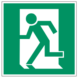 Download free pictogram green exit icon