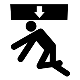 Download free pictogram fall human storage attention icon