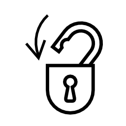 Download free padlock pictogram close icon