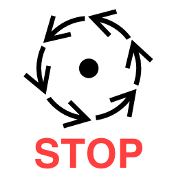 Download free pictogram machine stop attention icon