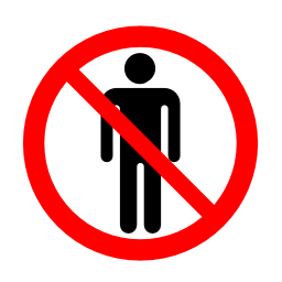 Download free red round pictogram prohibited human icon