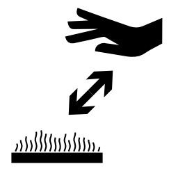Download free pictogram hand heat distance icon