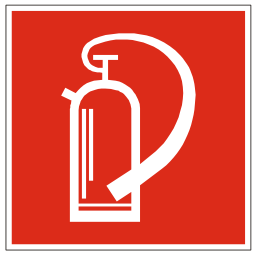 Download free red pictogram extinguisher icon