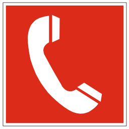 Download free red pictogram phone icon