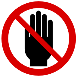 Download free red round pictogram hand prohibited icon
