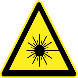 Download free pictogram triangle laser risk icon