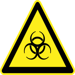Download free pictogram triangle biology risk icon
