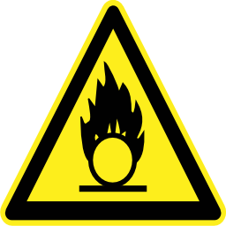 Download free pictogram triangle flame risk icon