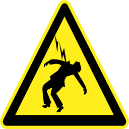 Download free pictogram electric thunderbolt triangle human risk icon
