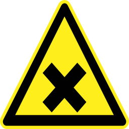 Download free cross pictogram black triangle risk icon