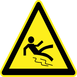 Download free pictogram fall triangle human risk icon
