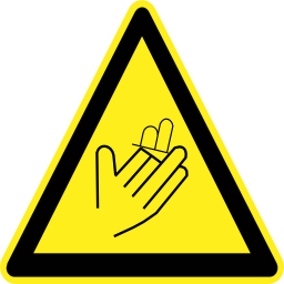 Download free pictogram hand triangle risk incision icon