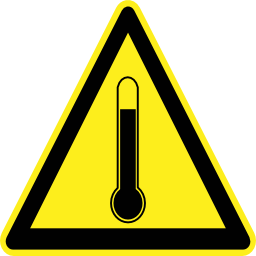 Download free pictogram triangle temperature risk icon