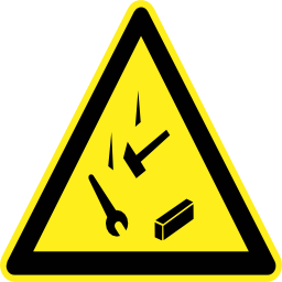Download free key pictogram fall triangle object risk icon