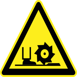 Download free pictogram foot triangle machine risk icon