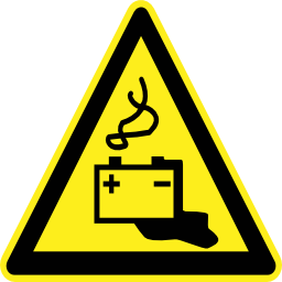 Download free pictogram battery triangle risk icon