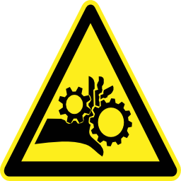 Download free pictogram hand triangle machine crush risk icon